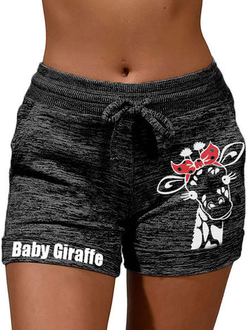 Load image into Gallery viewer, Baby Giraffe Print Casual Shorts