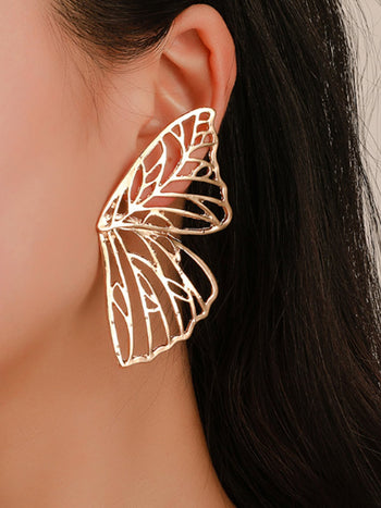 Load image into Gallery viewer, Women's Hollow Butterfly Wing Ear Studs