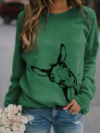 Load image into Gallery viewer, Donkey Print Long Sleeve Pullover
