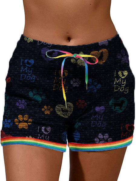 Dog Love Casual Shorts With Pockets