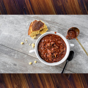 Cooked Beef Chili - without Beans  1.50 lb. pack