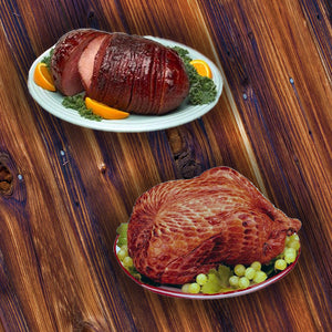 Dinner Package - Bnls Sliced Ham & Smoked Turkey