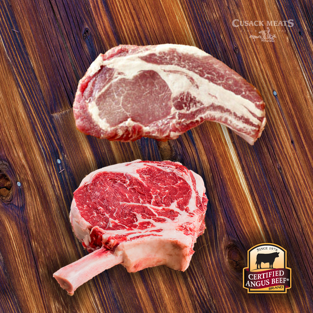 CAB® Bone-In Ribeye Steak & Berkshire Pork Chop