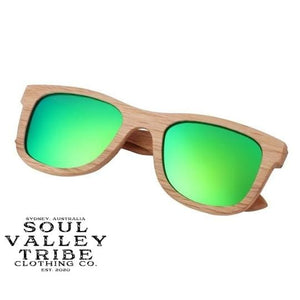 Soul Valley Tribe Bamboo Sunglasses Jungle Rumble Green