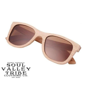 Soul Valley Tribe Bamboo Sunglasses Teddy Bear Brown