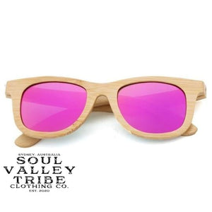 Soul Valley Tribe Bamboo Sunglasses Strawberry Sweetie Pink