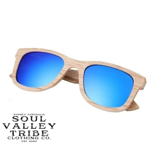 Soul Valley Tribe Bamboo Sunglasses Chilly Bin Blue
