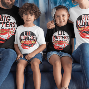 Soul Valley Tribe Family wearing Big Nippers and Little Nippers Tees in Black and White