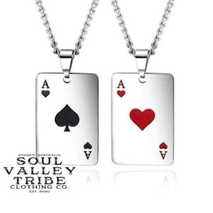 Lucky Ace Silver Necklace