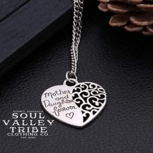 Load image into Gallery viewer, Mother and Daughter Forever Silver Necklace