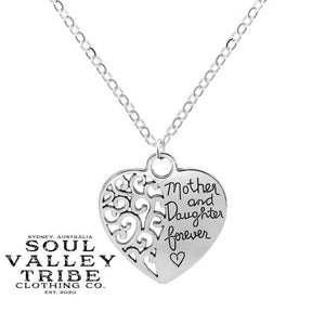 Mother and Daughter Forever Silver Necklace