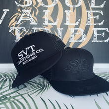 Load image into Gallery viewer, SVT Clothing Co. Black Logo Hat
