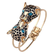 Load image into Gallery viewer, Leopard Head Golden Cuff