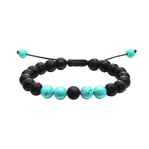 Lava Stone Adjustable Beaded Bracelets