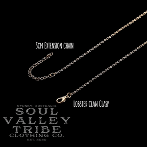 soulvalleytribe gold lobster claw clasp and extension chain
