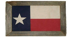 Antiqued Texas Flag in Single Print