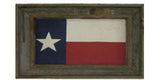 Antiqued Texas Flag in Triple Frame