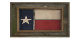 Antiqued Texas Flag in Window Frame