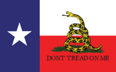 Texas Gadsden Flag - Dont Tread On Me