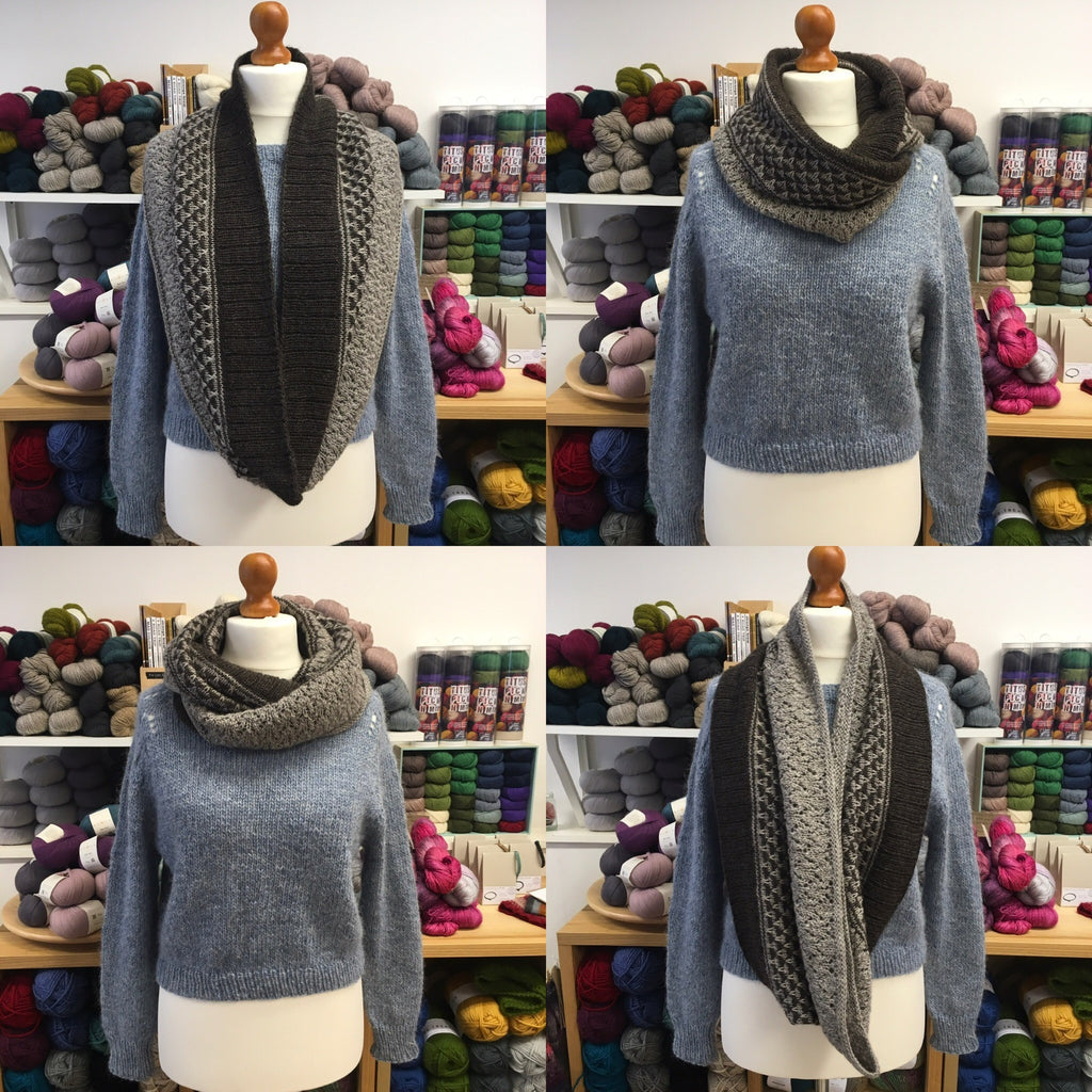 Cowl worn in different ways