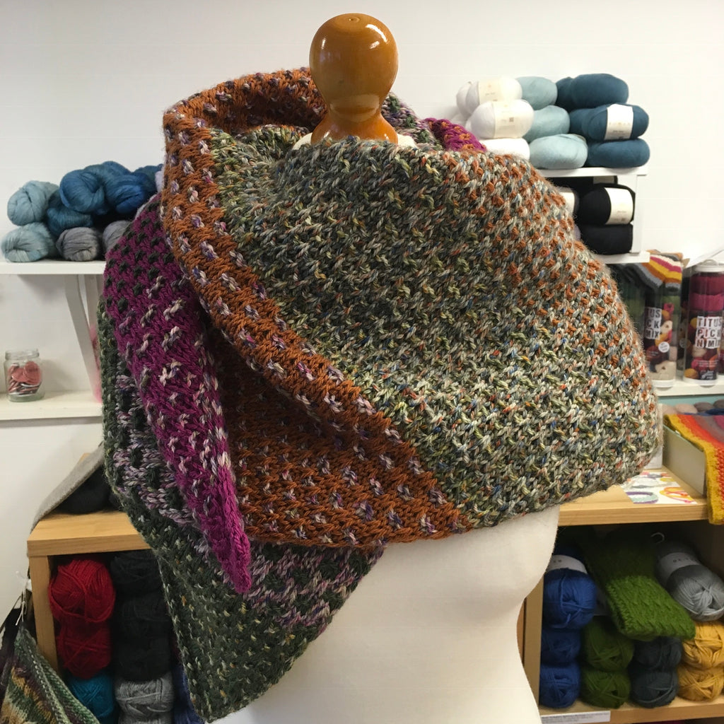 Nightshift shawl at the woolly brew