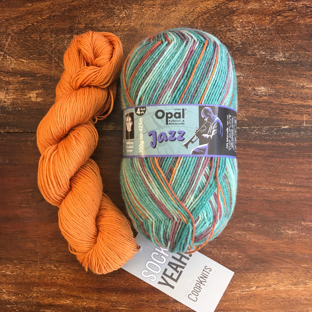 The Woolly Brew Free Pattern Simple Cowl in Opal Sock Yarn and Socks Yeah 4ply