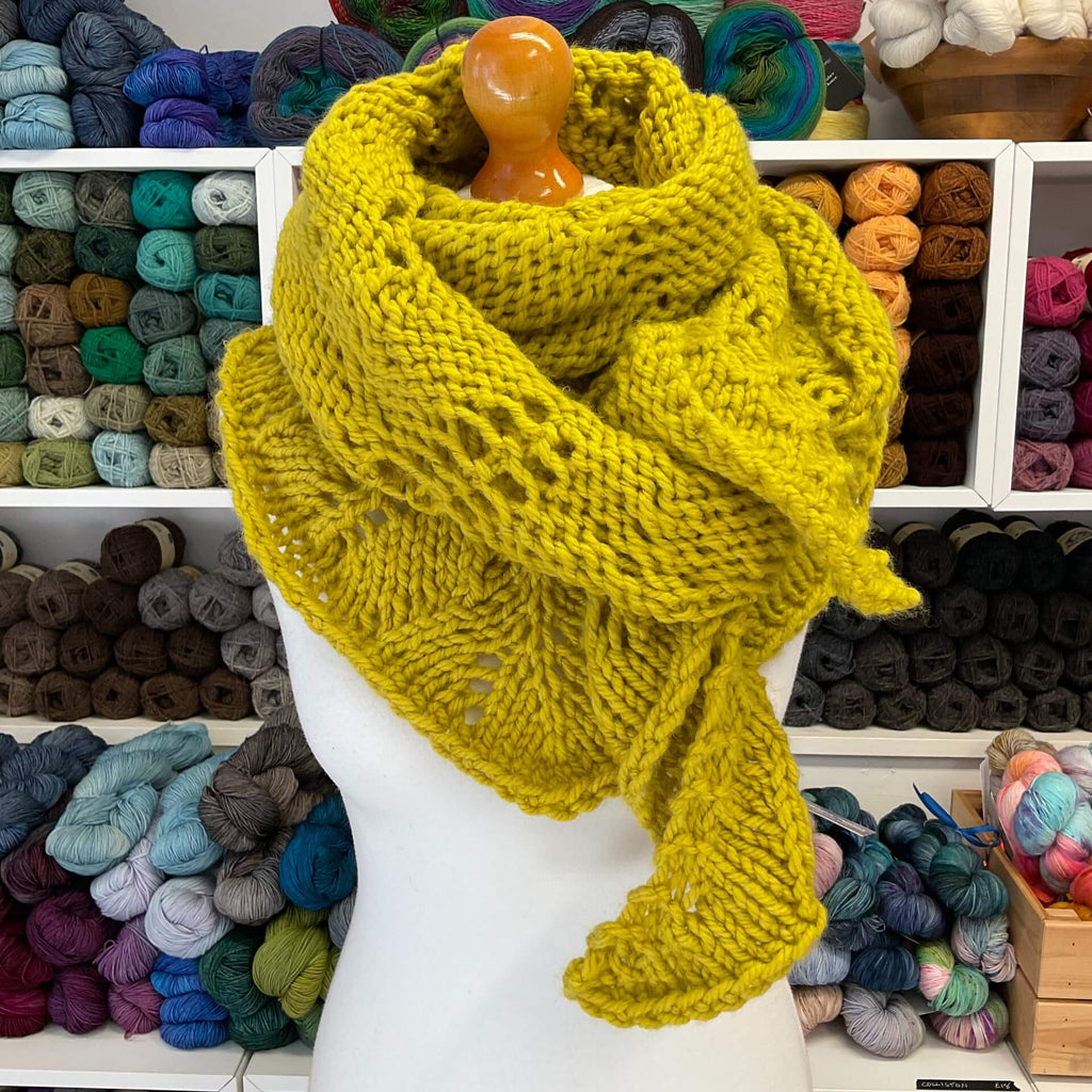 bright yellow chunky scarf