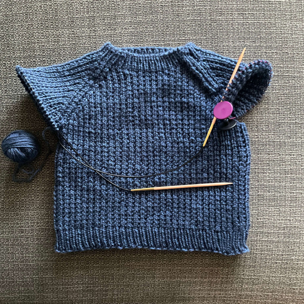unfinished hand knit baby jumper