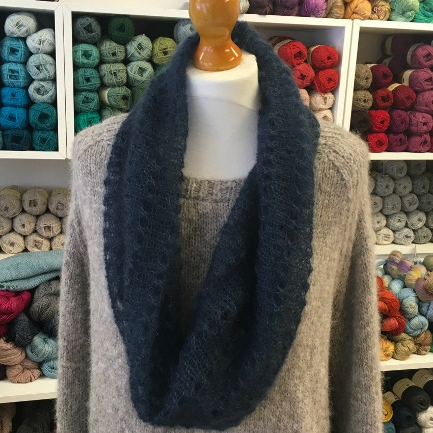 Simple Mohair Cowl