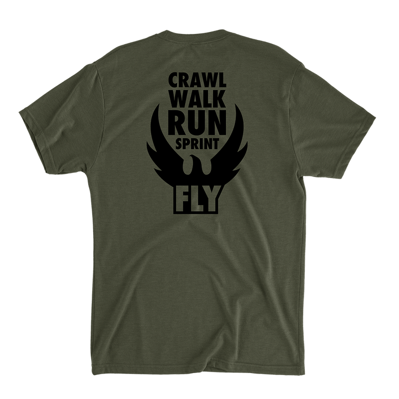 Crawl Walk Run Sprint Fly - Men's T-Shirt