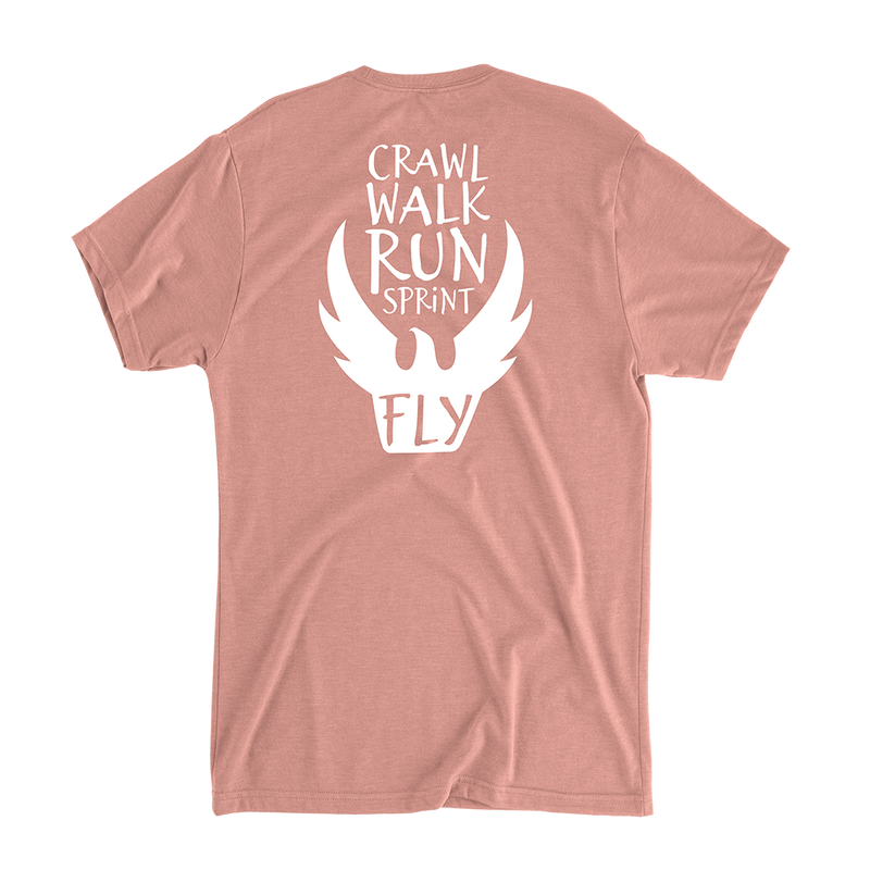 Crawl Walk Run Sprint Fly - Women's Casual T-Shirt