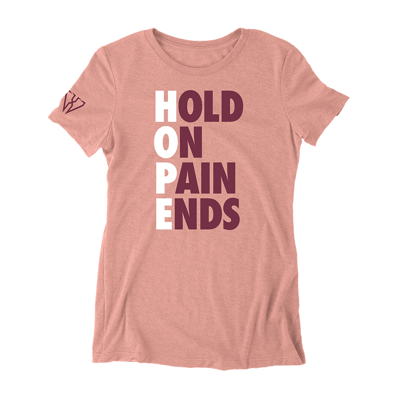 Hold On Pain Ends - Women's Fitted T-Shirt