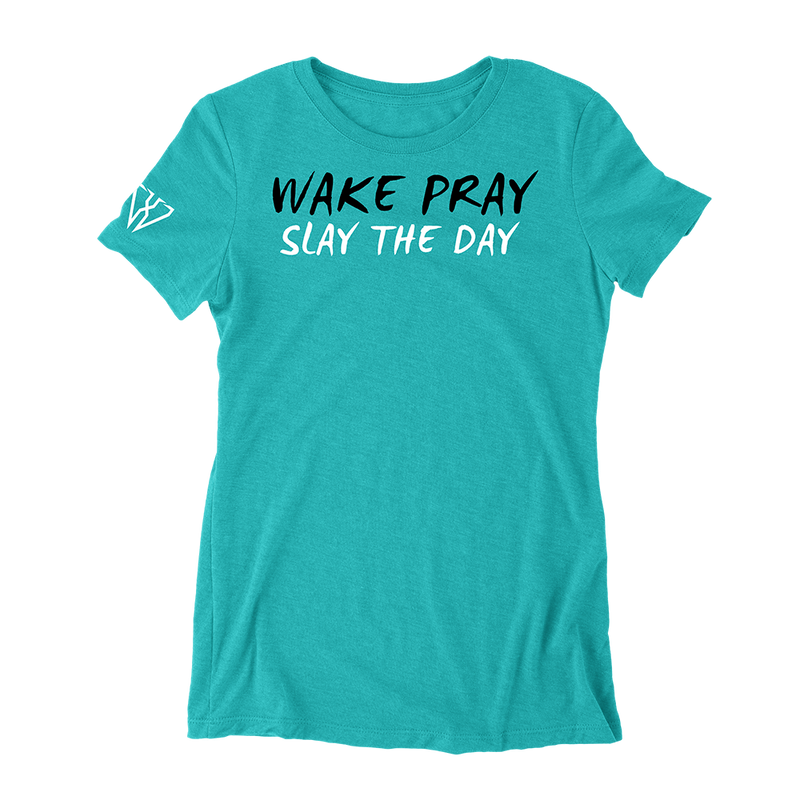 Wake Pray Slay The Day - Women's Fitted T-Shirt