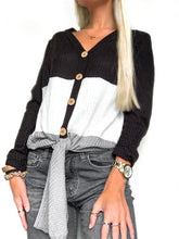 Load image into Gallery viewer, Color Block Waffle Knit Long Sleeve