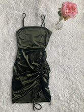 Load image into Gallery viewer, Olive Velvet Dress