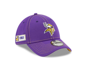 NFL Minnesota Viking New Era 2019 Sideline Road 39THIRTY - Purple