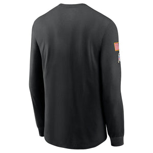 NFL Dallas Cowboys Nike 2020 Salute to Service Crew Long Sleeve Tee - Black