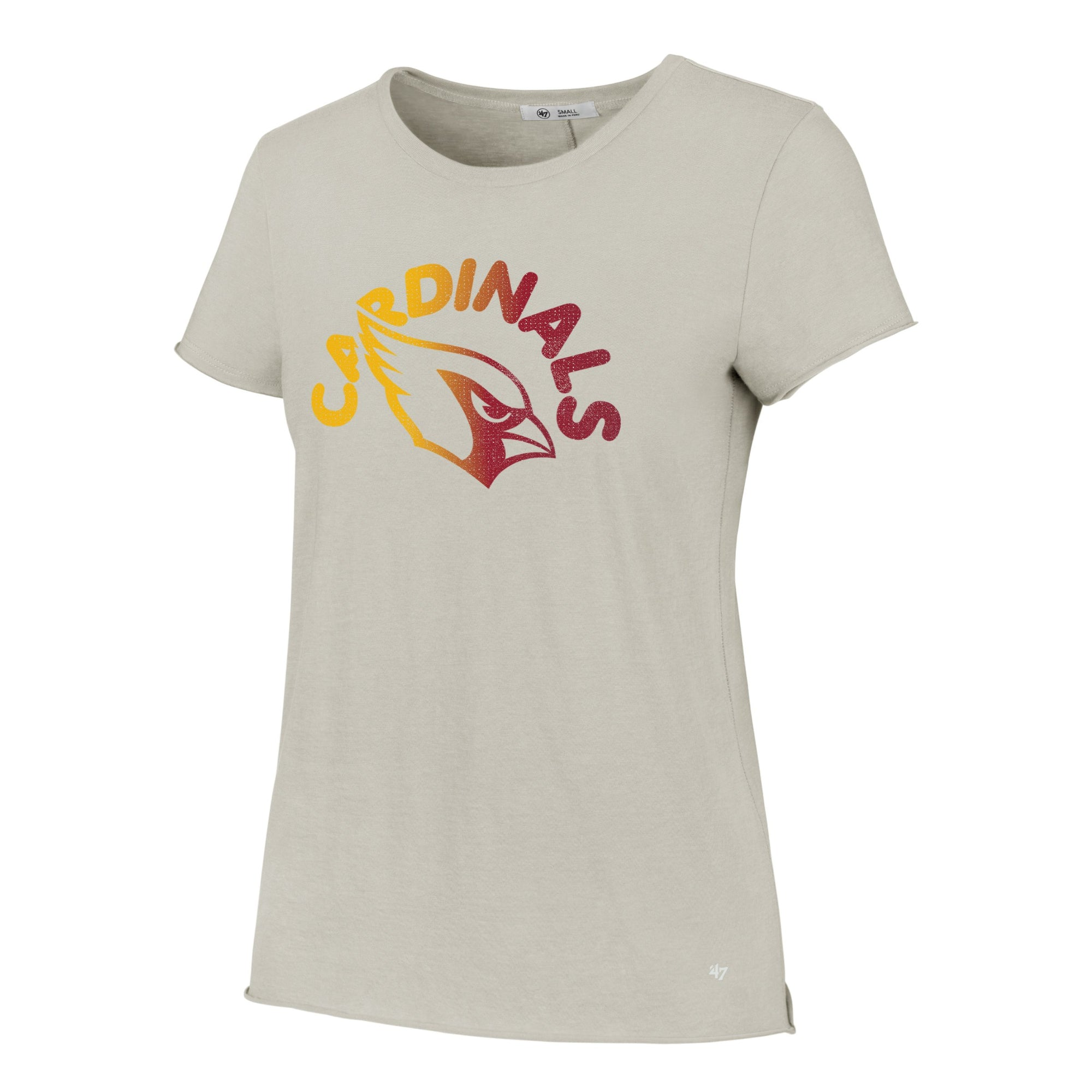 NFL Arizona Cardinals Women's '47 Moonlight Letter Tee - Sand