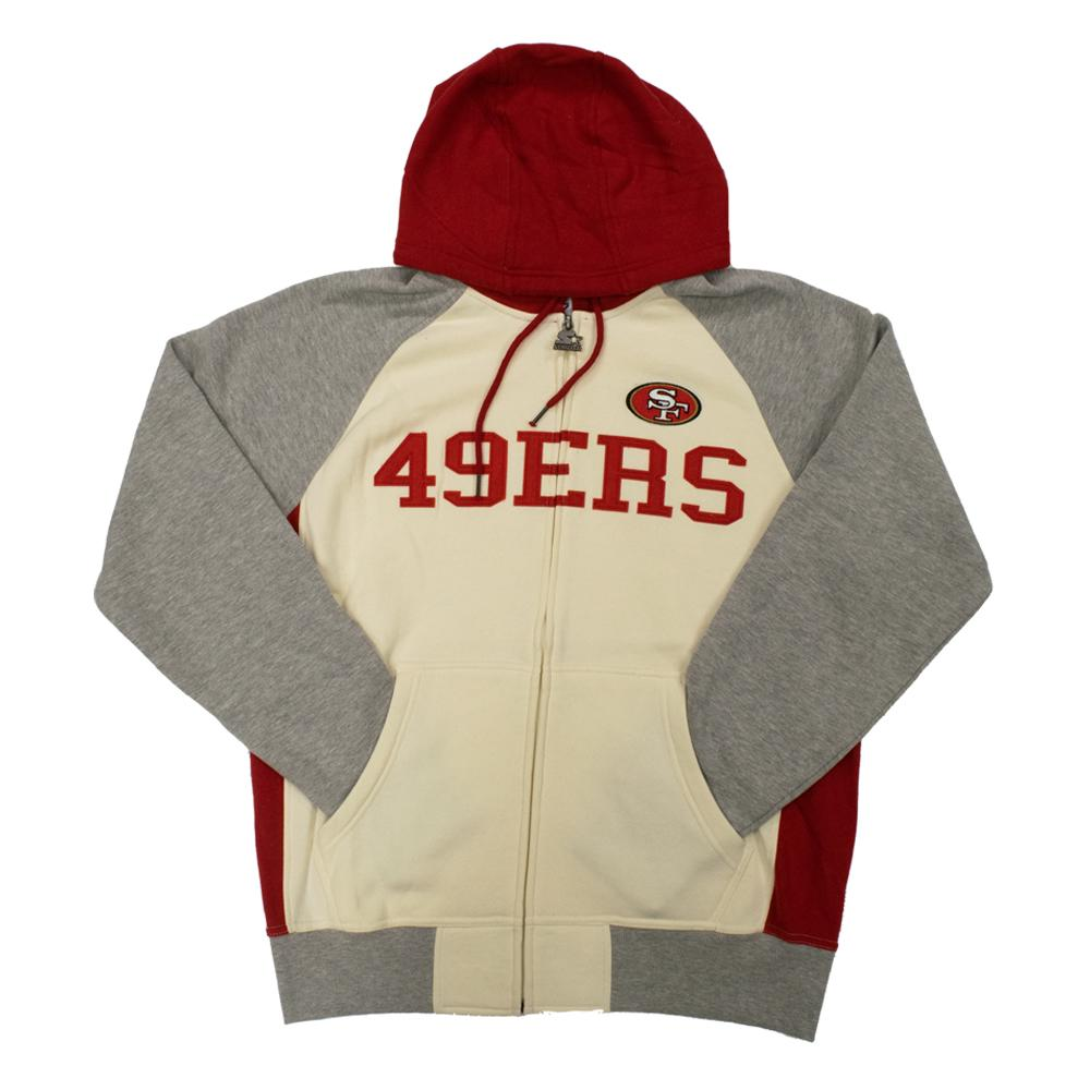 NFL San Francisco 49ers Starter Pinnacle Full-Zip Jacket - White