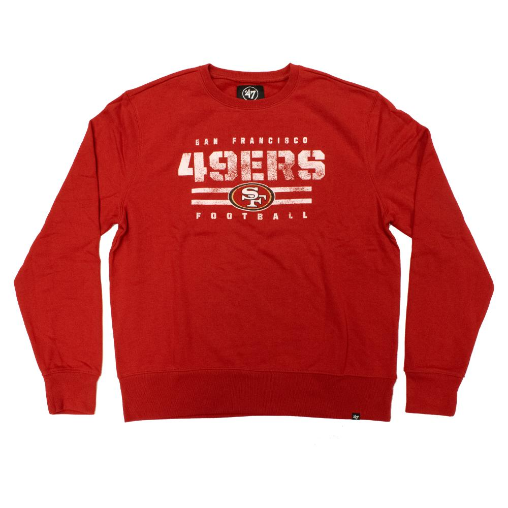 NFL San Francisco 49ers '47 Stencil Crew Neck - Red
