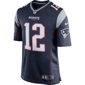 NFL New England Patriots Tom Brady Nike Game Jersey - Navy