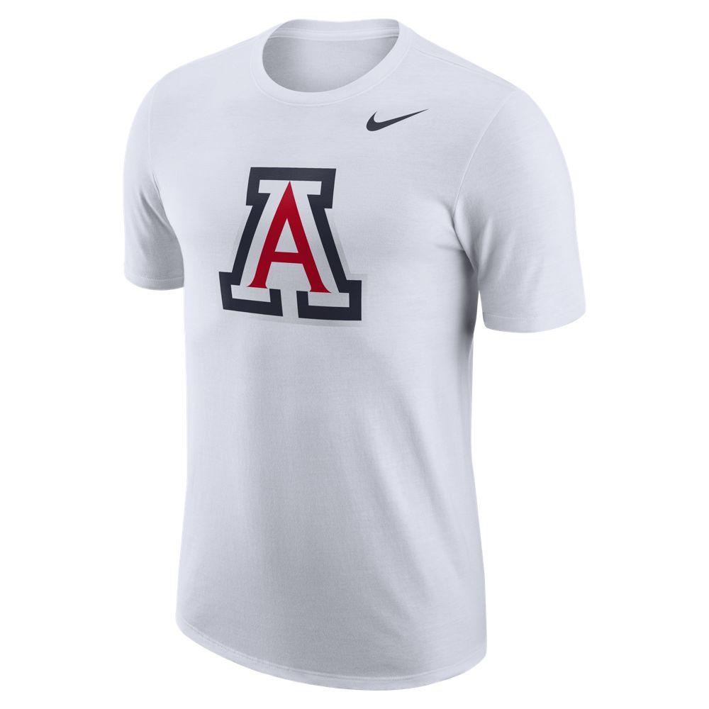 NCAA Arizona Wildcats Nike Dri-Fit Cotton Logo Tee - White