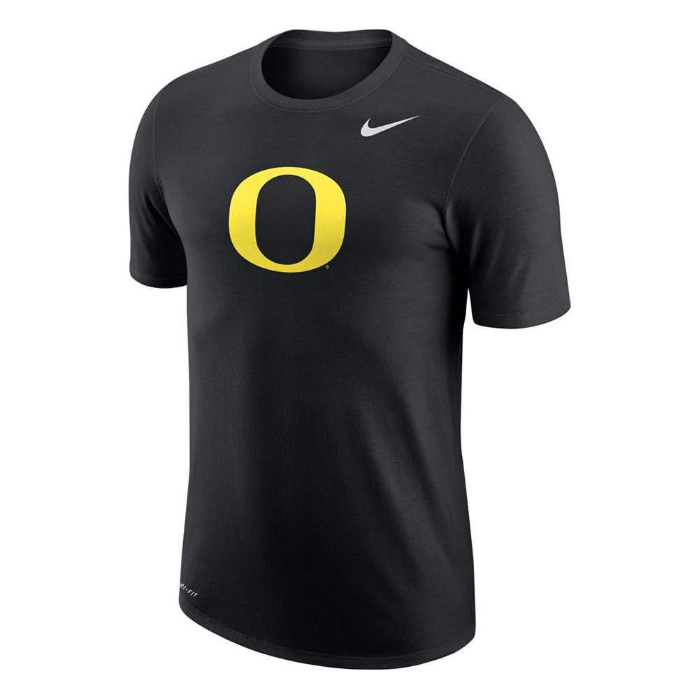 NCAA Oregon Ducks Nike Dri-Fit Cotton Logo - Black