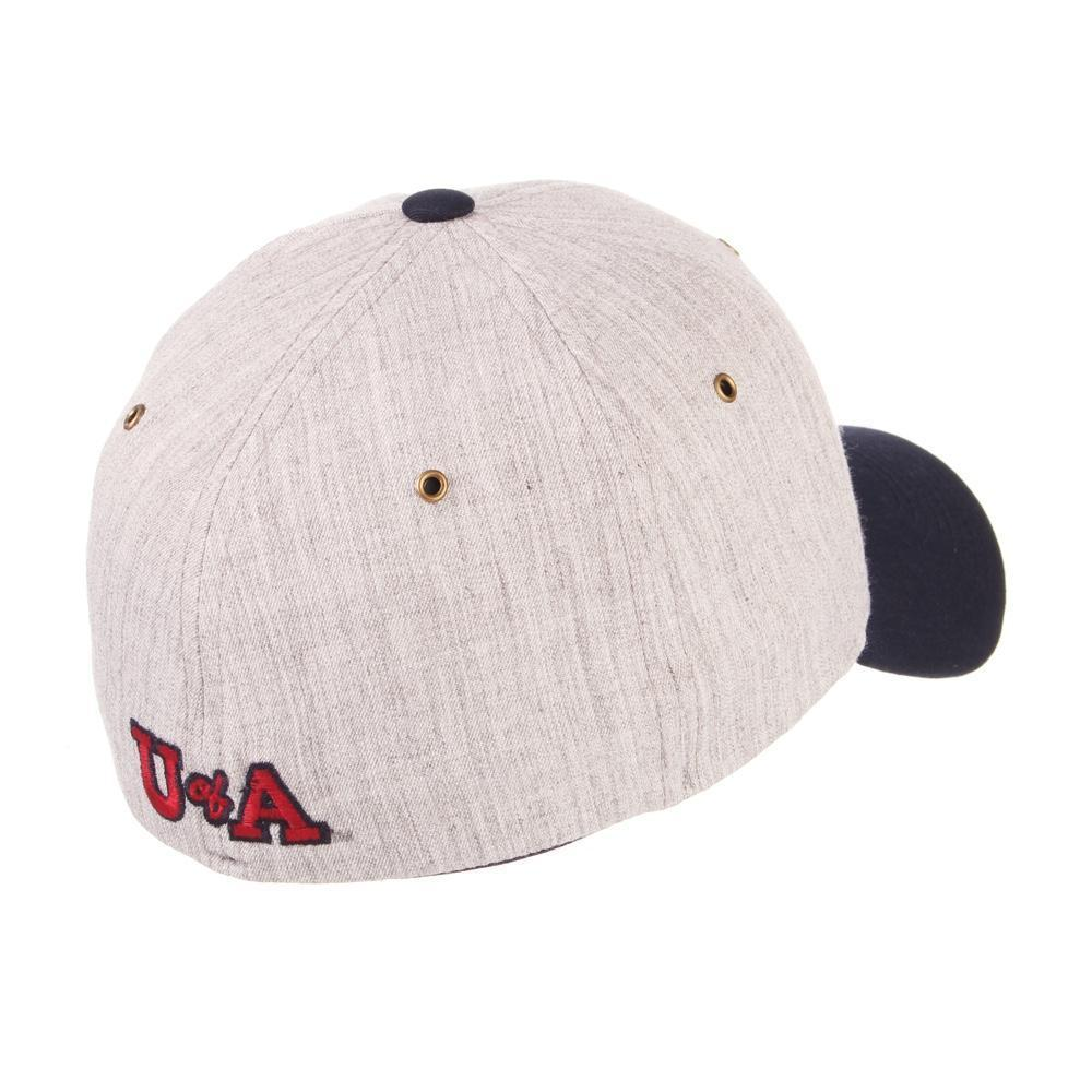 NCAA Arizona Wildcats Zephyr ZFit Vault Flex Cap - Grey