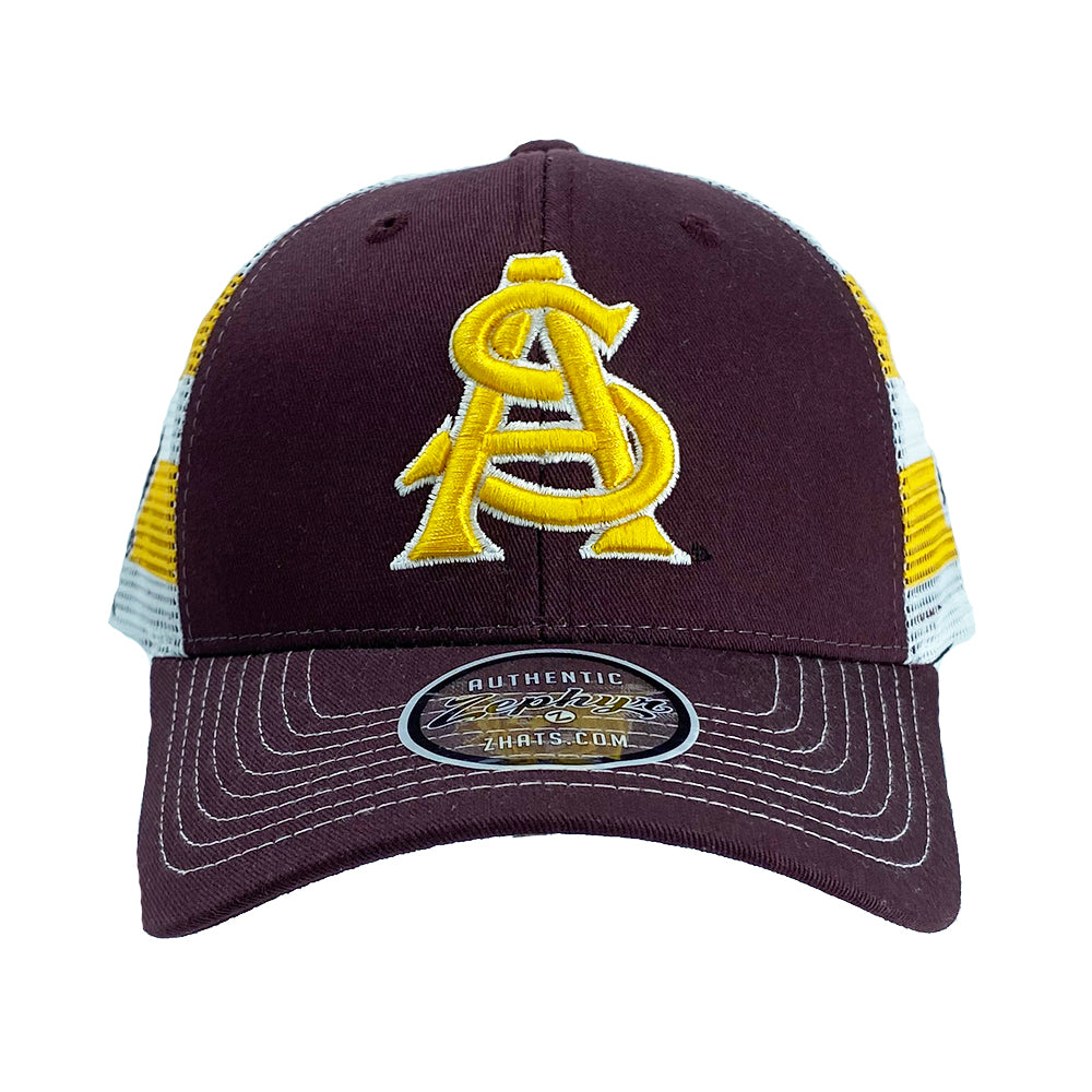 NCAA Arizona State Sun Devils Zephyr Double Take Competitor Adjustable Hat - Maroon