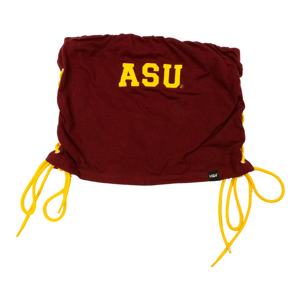 Arizona State Sun Devils Women's Hype & Vice Lace Up Tube Top - Maroon