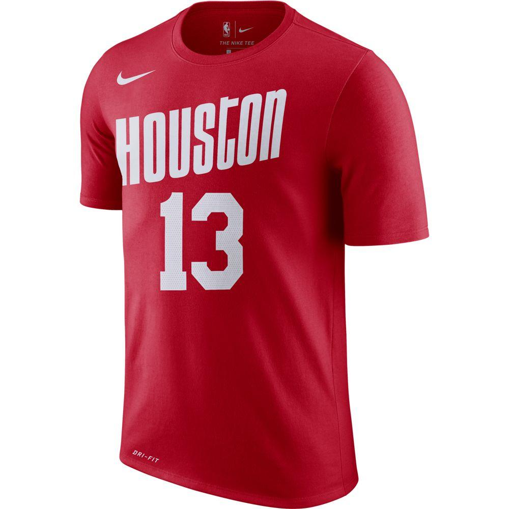 NBA Houston Rockets James Harden Nike Hardwood Classic Name & Number Tee - Red