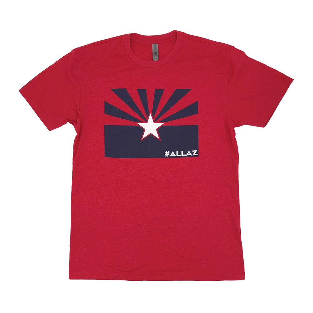 #ALLAZ Navy Flag White Star Tee - Red