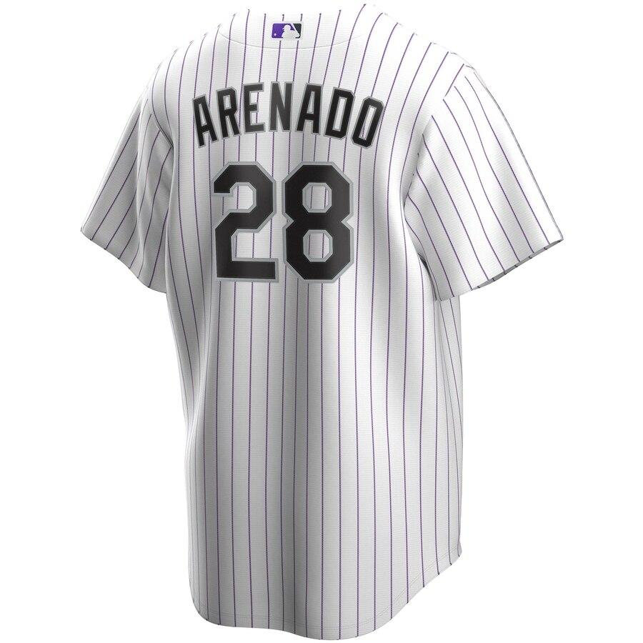 MLB Colorado Rockies Nolan Arenado Nike Official Home Replica Jersey - White