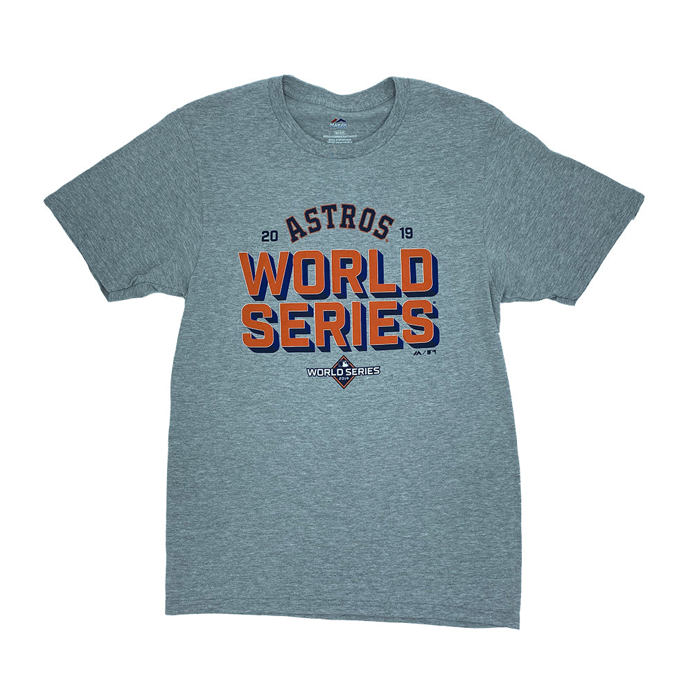 MLB Houston Astros Majestic 2019 World Series Can of Corn Tee - Gray